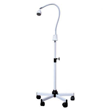 LED-Lampe + füße rollen ausziehbar /weiß/ einheit